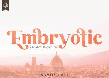 Embryotic Free Font