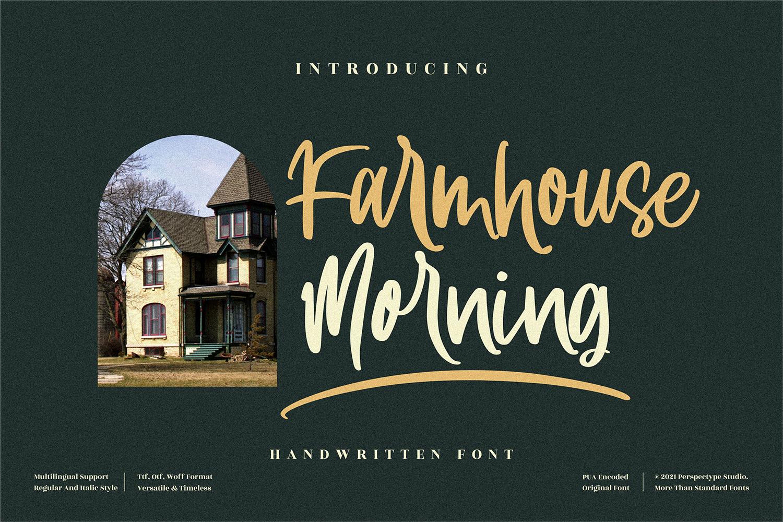 Farmhouse Morning Free Font