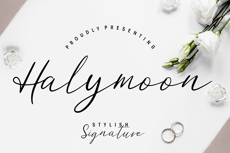Halymoon Free Font
