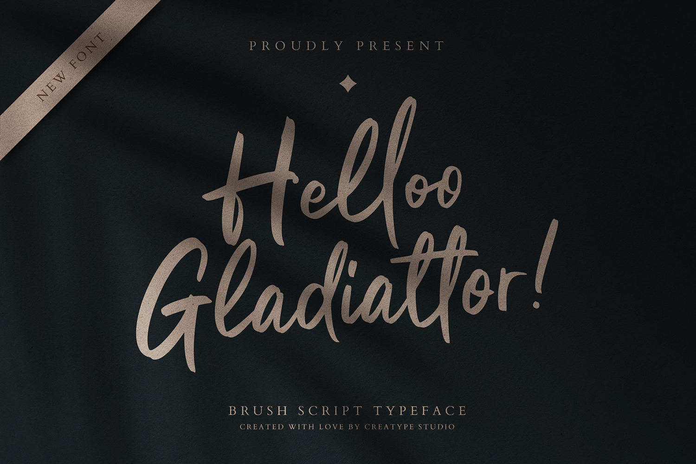 Helloo Gladiattor Free Font