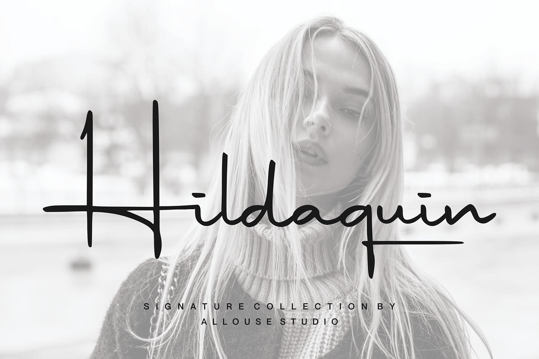 Hildaquin Free Font