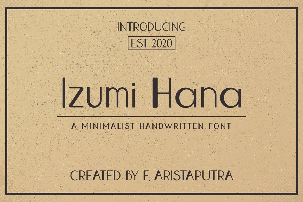 Izumi Hana Free Font