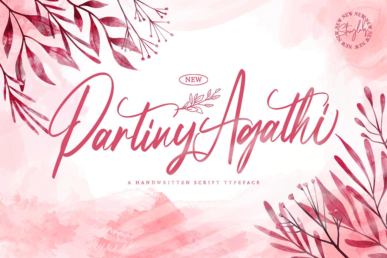 Partiny Agathi Free Font