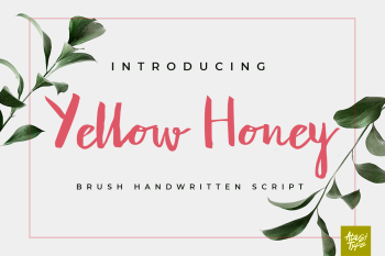 Yellow Honey Free Font
